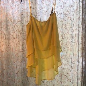XOXO Tops - Neon yellow/green chiffon blouse